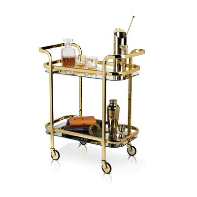 Belmont Retro Gold Bar Cart