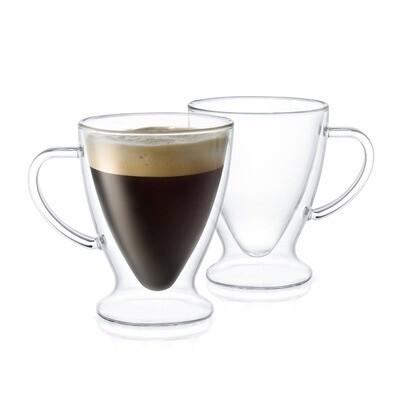 JoyJolt - Declan Insulated Espresso Glasses, 5 Oz Set of 2