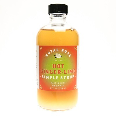 Hot Ginger Lime Simple Syrup (8oz)