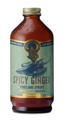 Spicy Ginger Syrup Concentrate (12oz)