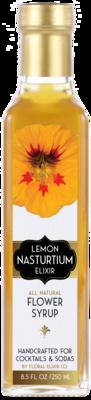 Floral Elixir Co. - Lemon Nasturtium Elixir - All Natural Cocktail & Soda Syrup