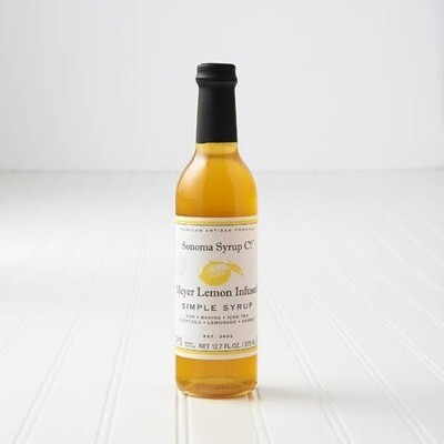 Meyer Lemon Infused Simple Syrup (12.7 oz)
