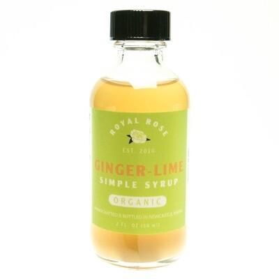 Royal Rose Syrups - Ginger Lime Organic Simple Syrup 2oz