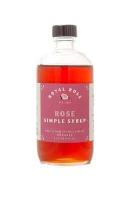 Royal Rose Syrups - Rose Organic Simple Syrup 16oz