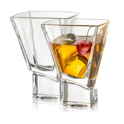 JoyJolt - Carre Martini Cocktail Glasses Set of 2