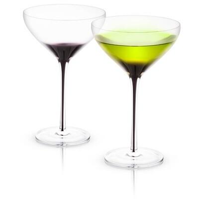 JoyJolt - Black Swan Martini Glass