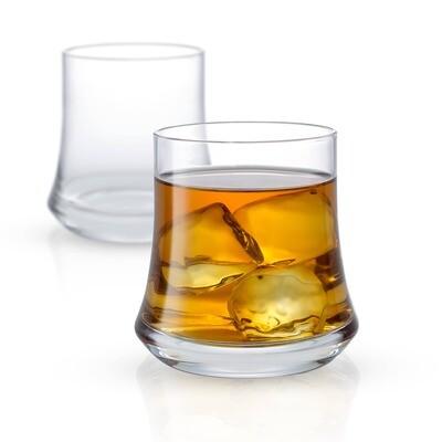 JoyJolt - Cosmos Whiskey Glasses, 12.5 Oz Set of 2