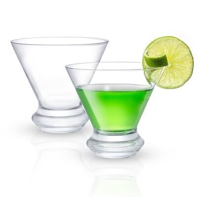 JoyJolt - Cosmos Martini Glasses, 8.5 oz Set of 2