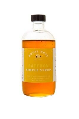 Royal Rose Syrups - Saffron Organic Simple Syrup 8oz