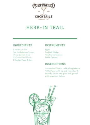 HWY 9 Gin Cocktail Kit: Herb-In-Trail