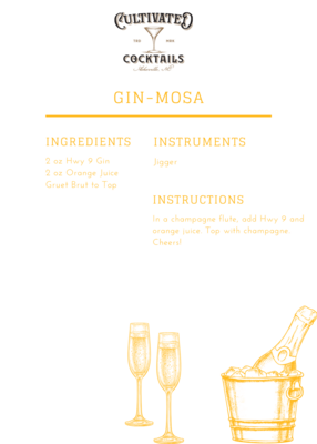 HWY 9 Gin Cocktail Kit: Cultivated Gin-Mosa
