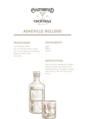 """Asheville Vodka Cocktail Kit: """"Asheville Bull Dog"""""""