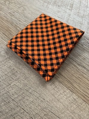 Black/Orange Check