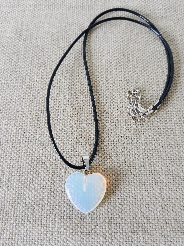 Pendentif cœur quartz