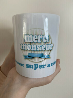 Mug instituteur merci monsieur