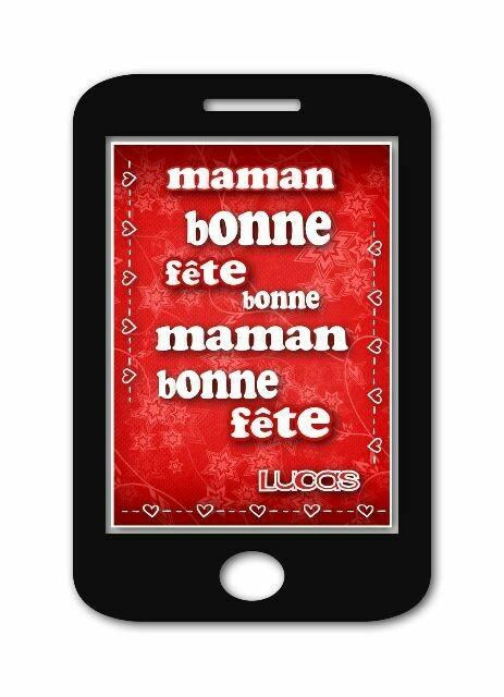 Annonce numérique bonne fête maman