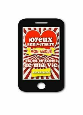 Annonce digitale anniversaire conjoint