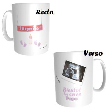 Mug annonce grossesse avec échographie