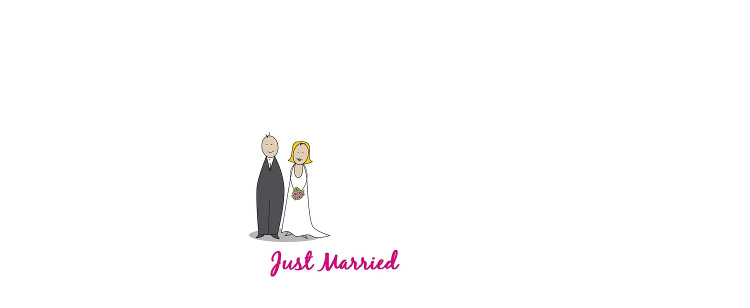 Masque de protection just married