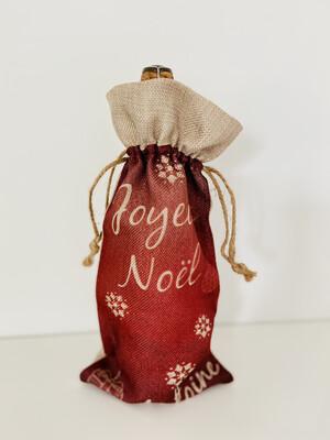 Sac cadeau pour bouteille joyeux Noël