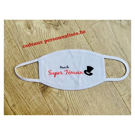 Masque de protection pour le super témoin