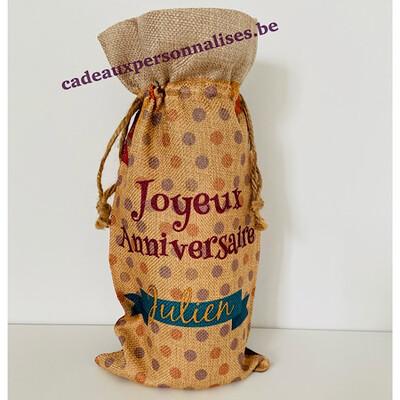 Sac bouteille joyeux anniversaire