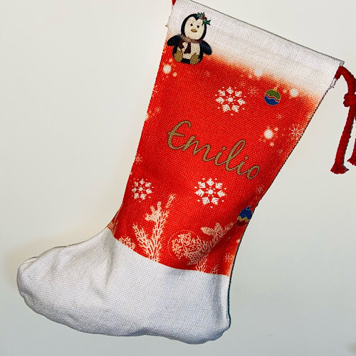 Chaussette de Noël avec prénom