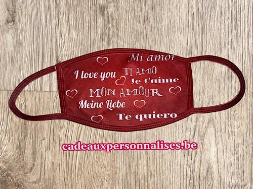 Masque de protection saint-valentin