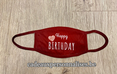 Masque de protection Happy Birthday