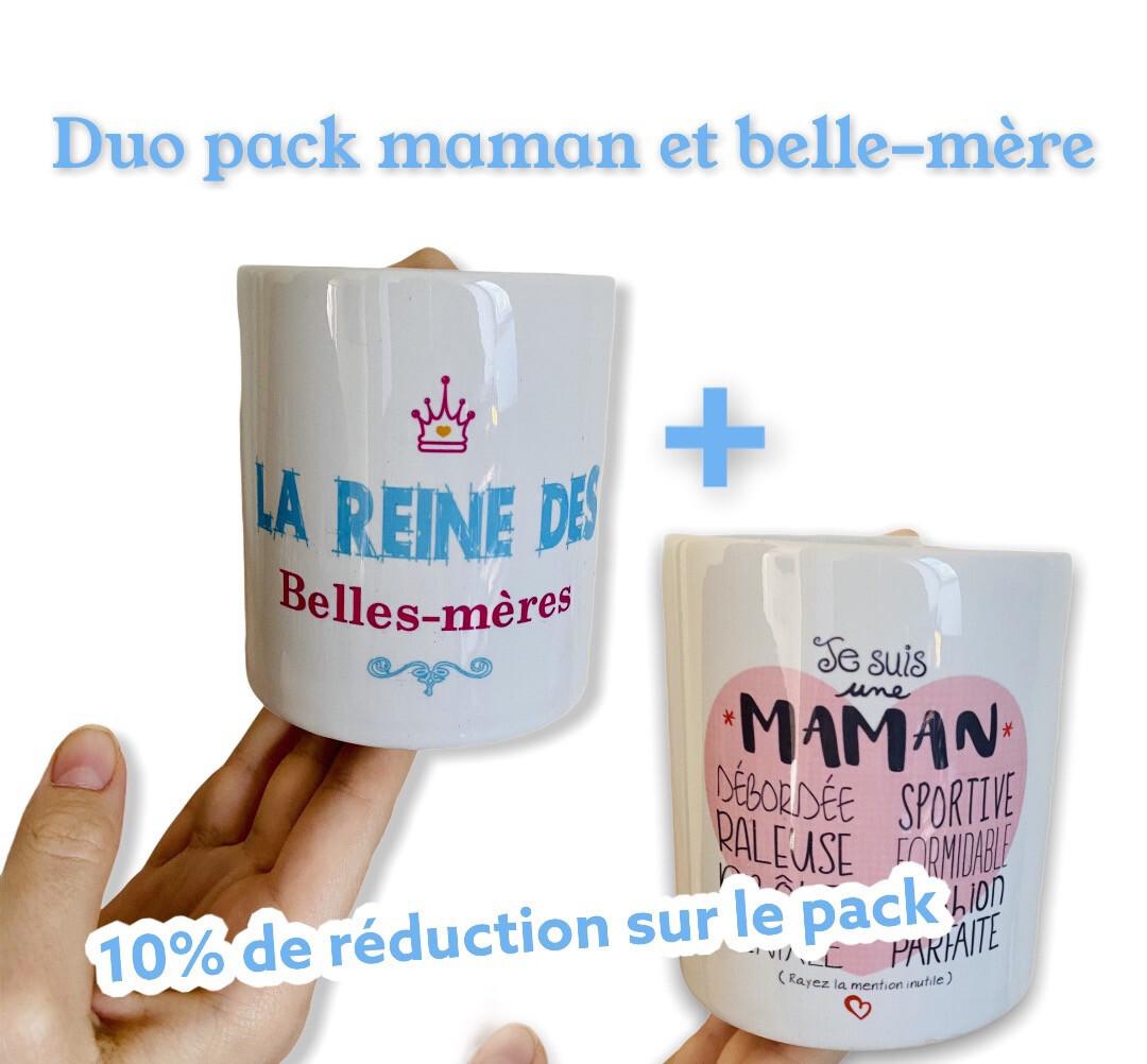 Coffret duo mug maman + belle-mère