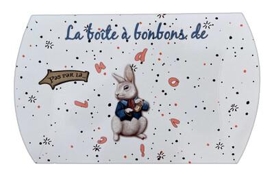 Boîte à bonbons le lapin d'Alice