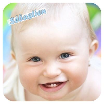 Dessous de verres avec photo de bébé