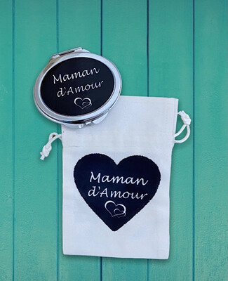 Miroir de poche maman d'amour