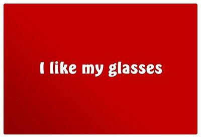 Lingette pour lunettes I like my glasses