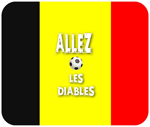 Tapis de souris drapeau belge