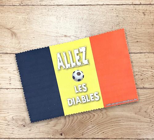 Lingette drapeau belge allez les diables