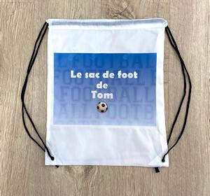 sac de football personnalisé avec le prénom
