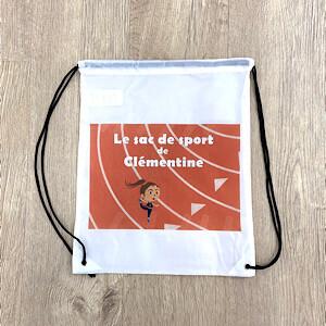 sac de sport fille avec prénom