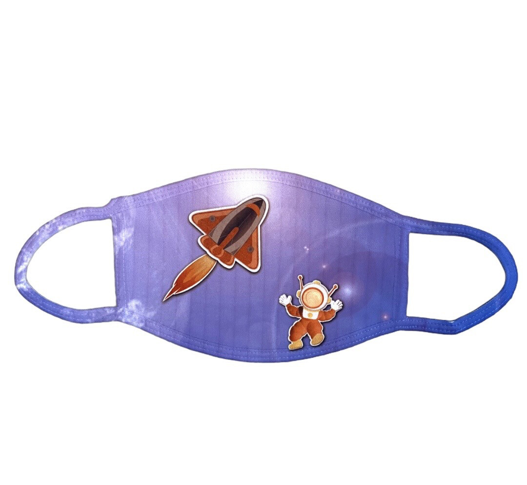 Masque de protection fusée spatiale