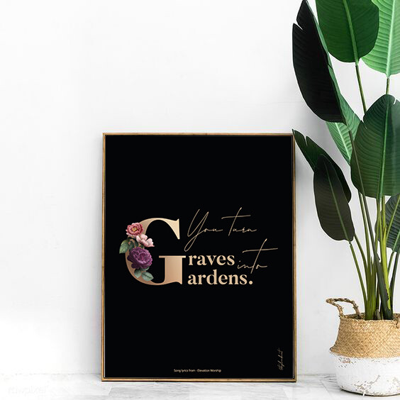 A3 - Graves into Gardens - Digital print