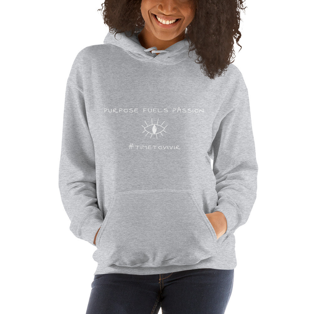 """Unisex Hoodie with """"Purpose Fuels Passion"""" Quote"""