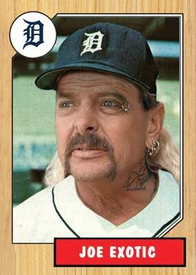 Joe Exotic Baseball Card!  1987 Topps!