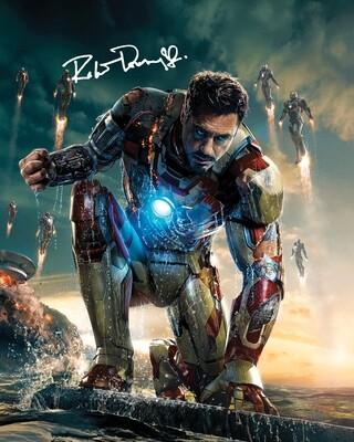 Iron Man 8x10 Photo w/ Robert Downey, Jr Facsimile Autograph