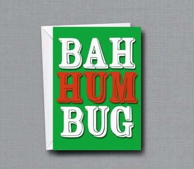 Bah Humbug - Christmas Card