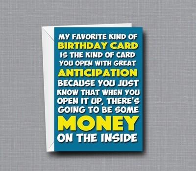 No Money Inside - Birthday Card