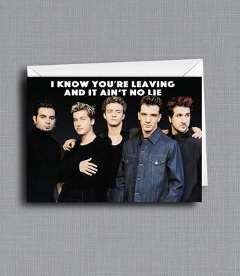 Bye Bye Bye - Goodbye Card - Nsync