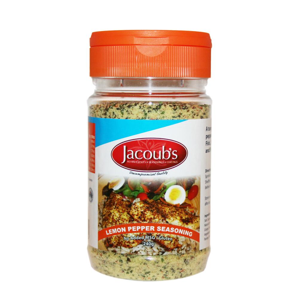 Jacoubs Lemon Pepper Seasoning - 240g