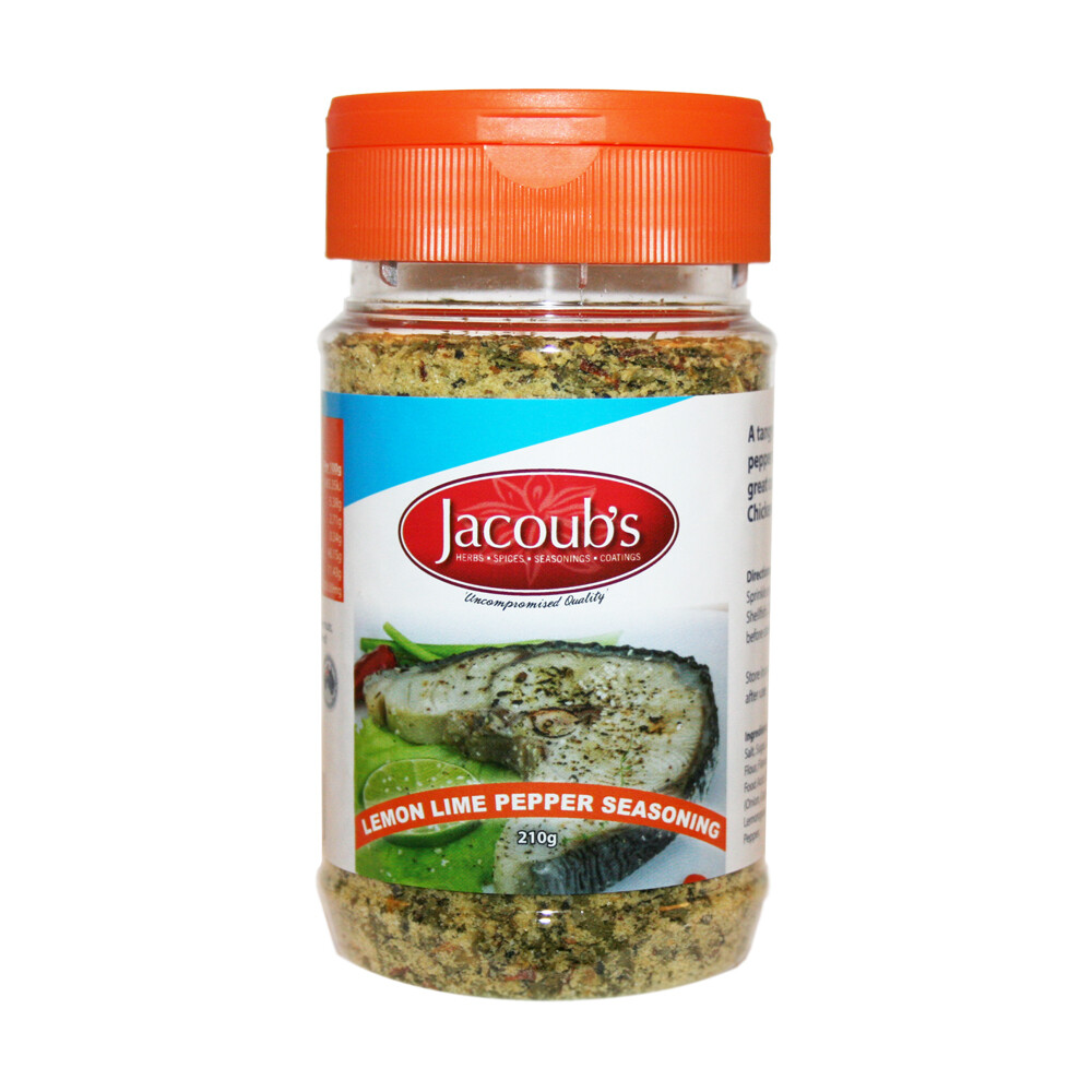 Jacoubs Lemon Lime Pepper Seasoning - 210g