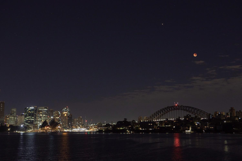 Sydney Blood Moon Print