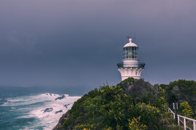 Stormy Windy Lighthouse